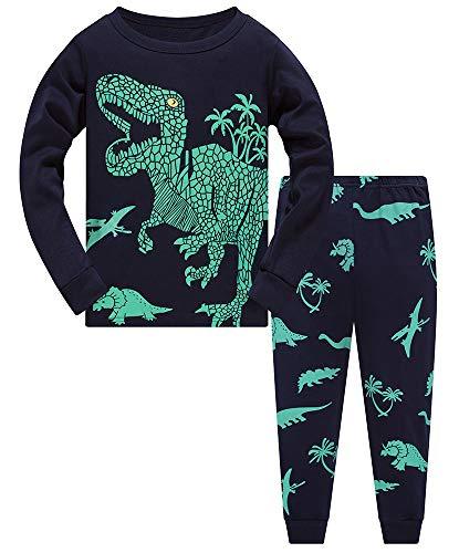 TEDD Pigiama Ragazzo Dinosauro Cotone Lungo Pyjama Sets Vestiti Bambino Invernale Due Pezzi Impostato Natalizio Regalo per Ragazzi 11-12 Anni