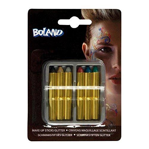Set de 6 crayons de maquillage pailleté - Taille Unique