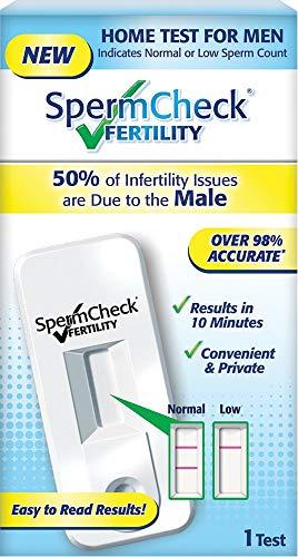 XKRSBS Kit de Prueba de fertilidad para Esperma casero | Esto Significa Que la cantidad de Esperma es Normal o pequeña, Conveniente y fácil de Leer y precisa