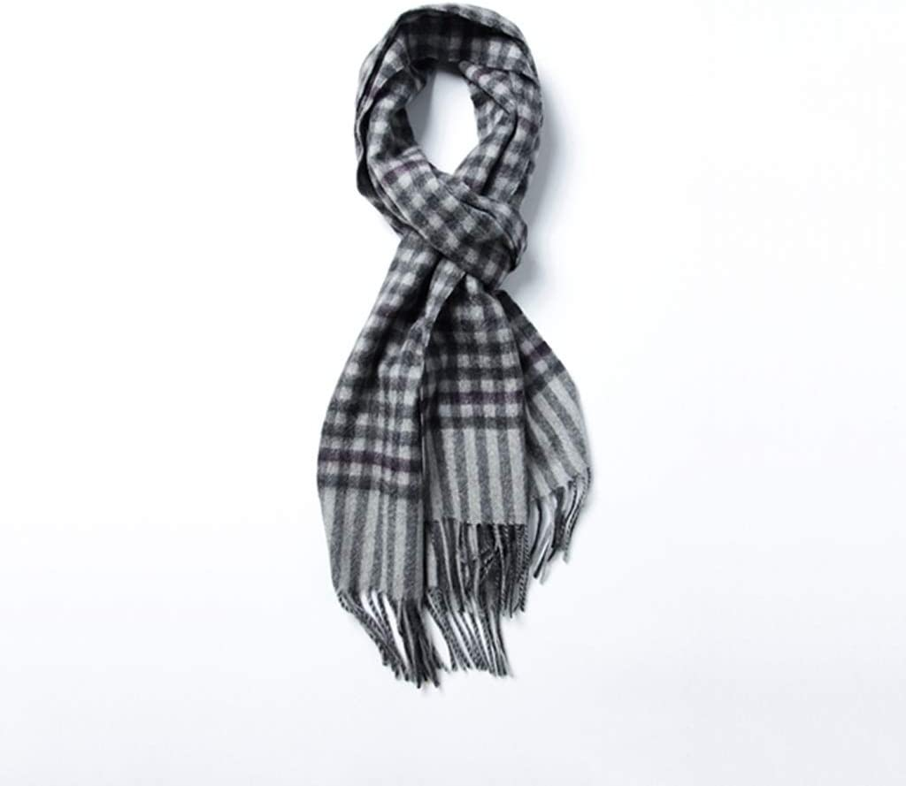 ZANZAN Cold Weather Scarves Men's Scarf, 100% Cashmere Scarf Thick Men's and Women's Autumn and Winter Plaid All-matchThanksgiving Gift for Couples Decorative Scarf