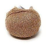 Chicca Tutto Moda Gomitolo 100 Grammi per Lavoro a Maglia e Uncinetto Ferri 3.5-4.5 Misto Cotone Viscosa Lurex Made in Italy Alta qualità (Rosa Antico)