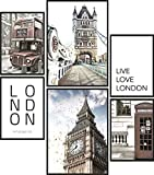 Papierschmiede® Mood-Poster Set London | 6 Bilder als