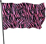 Oaqueen Flagge/Fahne, Sex Pink Leopard Grain Garden Flag 3x5 FT Banner with Brass Grommets Fly Breeze House Indoor Outdoor Home Boat Yacht Car Decorations,Single-Sided