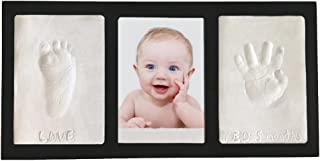 Proud Baby Clay Hand & Footprint Keepsake Photo Wall Mount Frame Kit - Black