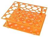 Driak Orange Plastic Test Tube Rack for 10ML/15ML/50ML Conical Test Tubes,50 Sockets