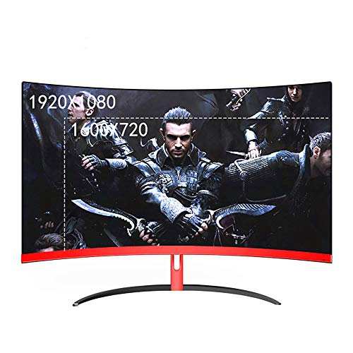 SCKL 32 inch curved gaming monitor LCD 2 mm zijscherm Less HDMI VGA-ingang Eye Care flicker vrij, 1920X1080