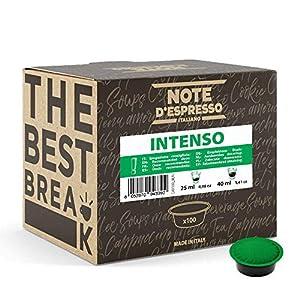 Note d'Espresso - Cápsulas de café para las cafeteras Lavazza y A Modo Mio, Intenso, 7 g (caja de 100 unidades)