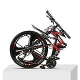 GWSPORT Vélo Pliant de 26 Pouces Absorption de Choc Vélo de Montagne Vélo Tout-Terrain Anti-Glisse pour VTT,24speed