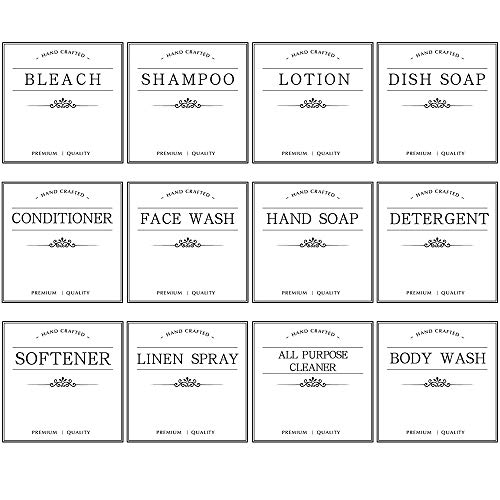 IParts Waterproof Removable Labels for 16oz Spray Bottles (12 Pack)
