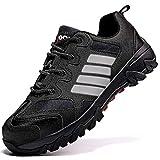Zapatos de Seguridad para Hombre con Puntera de Acero Zapatillas de Seguridad Trabajo, Calzado de Industrial y Deportiva(B Negro,40 EU)