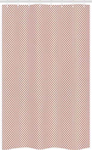 ABAKUHAUS Wijnoogst Douchegordijn, Stippen pasteltinten Art, voor Douchecabine Stoffen Badkamer Decoratie Set met Ophangringen, 120 x 180 cm, Droog nam en Champagne
