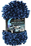 Viking 528201 2 in 1 Pearl Chenille Wash Sponge with Elastic Strap - Navy and Green