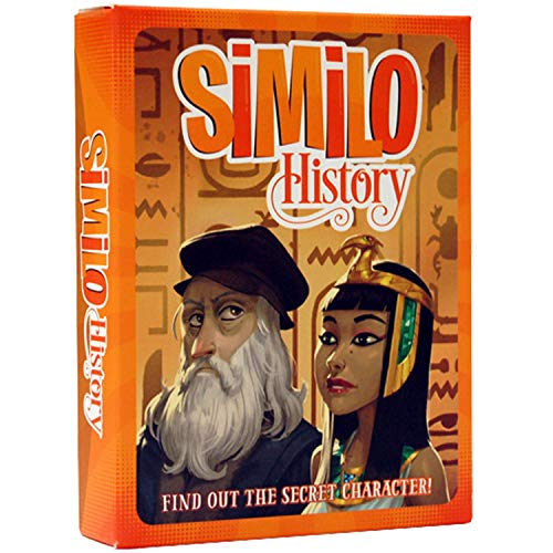 Similo History: A Fast Playing Family Card Game - Guess the Secret Historical Character, 1 Player is the Clue Giver & Others Must Guess the Character, 2-8 Players, Ages 8+, 20 min