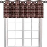 YUAZHOQI Cortina cenefa decoración nativa americana étnica Ikat Primitivo estilo azteca patrón 91,4 cm de ancho x 45,7 cm de largo, tratamiento de ventana para cocina, salón comedor (1 panel)