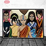 Flduod Poster Stampe Regalo L'Ultimo Airbender Personaggio Giappone Anime Wall Art Canvas Pittura Immagine Living Room Decor