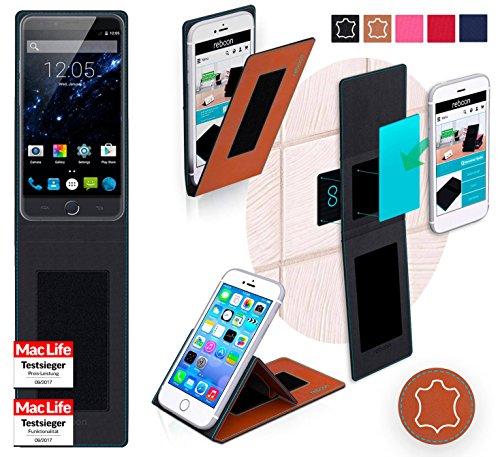 Hülle für Ulefone Be Touch 3 Tasche Cover Case Bumper | Braun Leder | Testsieger