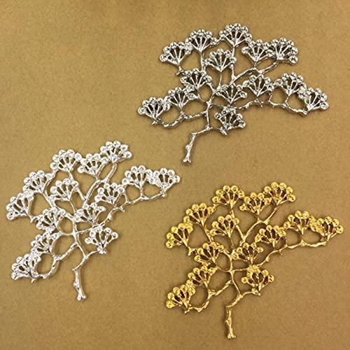 10pcs 66x53mm Metal Árbol Flor Motivo para Collar Joyería Hacer Hallazgos Componentes Artesanía Artesanal Suministros Al Por Mayor DIY