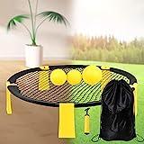 Gelb Mini Volleyball Spielset -mit Netz, 3 Bällen, Tragetasche, Ballpumpe mit 1 Nadel, Outdoor...