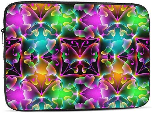 Bernice Winifred Funda para portátil de piel de tigre dorado compatible con estuche para ordenador portátil de moda de 10-17 pulgadas-Halloween Scary Grunge Skull, 10 pulgadas
