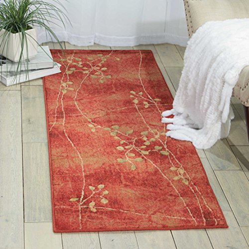 Nourison Somerset Flame Runner Area Rug, 2-Feet 3-Inches by 8-Feet  (2'3' x 8')