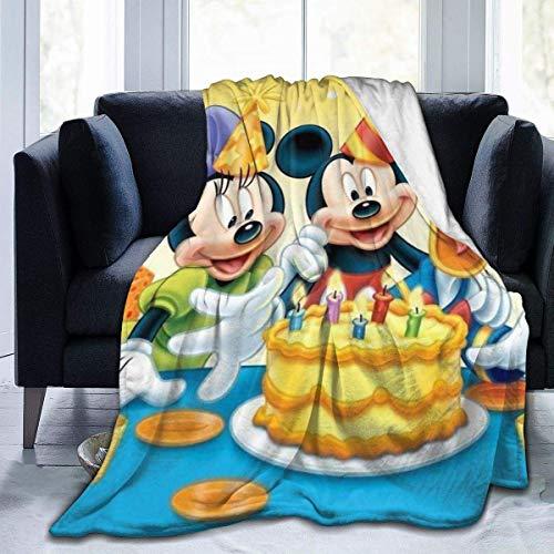 WH-CLA Manta De Viaje,Mic-Key-Mouse Minnie Mouse Manta Súper Suave Borrosa Mantas De Cama Franela Manta De Microfibra Manta De Sofá