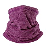 WTACTFUL Soft Fleece Neck Gaiter Neck Warmer Face Mask Balaclava Cover for Cold Weather Windproof Gear Winter Outdoor Sports Snowboard Skiing Cycling Motorcycle Hunting Fishing Men Women Deep Red