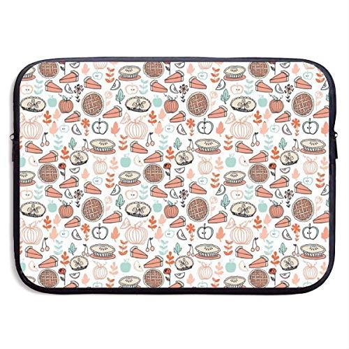 Nieuwigheid Laptop Draagtas Cover Nieuwe Bakken Voedsel Taarten, Ademende Computer Sleeve Tassen 15 Inch Compatibel met Notebook/Ultrabook, Duurzame Wasbare Laptop Protector met Rits
