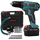 Kinswood Cordless Drill Kit 21V Led Lithium-ion with Drill Set Heavy Duty with Tool box