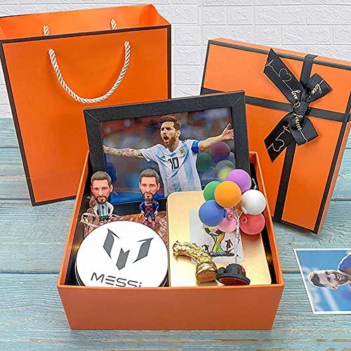 QQWJSH Fútbol Messi Muñeco conmemorativo Hecho a Mano Barcelona Real Madrid Regalos de cumpleaños para niños