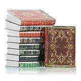 Sumind 16 Libros de Casas de Muñecas en Miniatura Libros de Miniaturas Atemporales Accesorios de Decoración de Casa de Muñecas Modelo de Cuaderno Mini Libros (Estilo Retro)