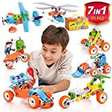 STEM Learning Toy For Boys And Girls Age 7-12 - 171 Pcs - Erector Set Mechanical Educational...