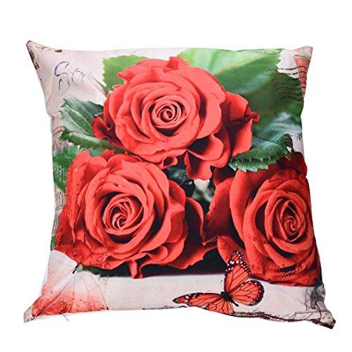 Squarex Imprimé fleurs Taies d'oreiller de voiture de canapé Polyester Housse de coussin Home Decor