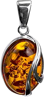 Ian and Valeri Co. womens girls teens children boys 925 Sterling Silver sterling-silver oval-shape yellow-orange honey amber