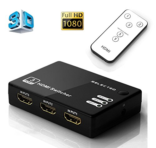 Musou Switcher HDMI, 3D Full HD 1080p Splitter HDMI Switch 3 Enter 1...
