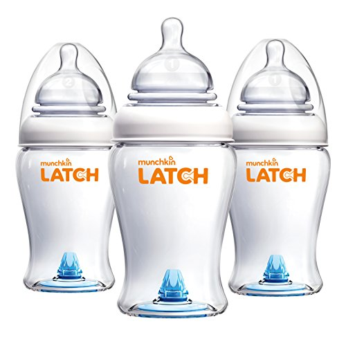 Munchkin Latch Anti-Colic Baby Bottle with Ultra Flexible Breast-like Nipple, BPA Free, 8...