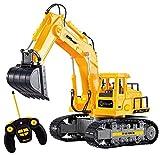 Top Race Escavatore funzionale completo di 7 canali RC, trattore elettrico telecomandato a pile della costruzione di telecomando di RC con le luci ed il suono. TR-111
