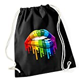 Certified Freak Gay Lips Gymsack Black