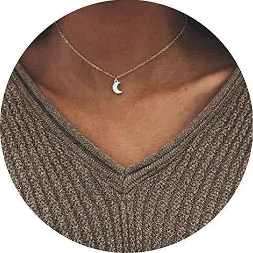 Collar con colgante de luna Jovono, para mujeres y niñas, moderno