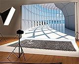 YongFoto 3x2m Vinilo Fondos Fotograficos Edificio de oficinas Ventana del Corredor Fondos para Fotografia Fiesta Niños Boby Boda Adulto Retrato Personal Estudio Fotográfico Accesorios