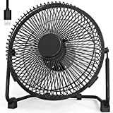 9 Inch USB Desk Fan USB Powered ONLY (No Battery), Personal Table Fan with Strong Airflow Quiet Operation, Portable Cooling Fan for Home Office Bedroom-Black