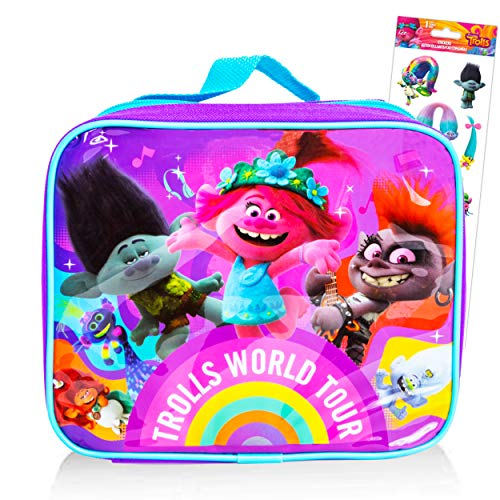 Dreamworks Trolls World Tour Travel Lunch Bag ~ Trolls School Lunch Box Trolls Travel and Go Pack (Trolls School Supplies Kit)