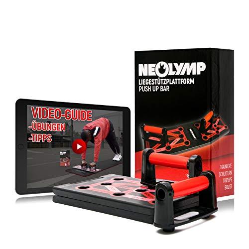 NEOLYMP 12 in 1 Premium Liegestützplattform mit Videoanleitung | |schonend für die Handgelenke