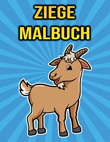 Ziege Malbuch: Für Kinder - Ziegen Geschenke für Jungen und Mädchen