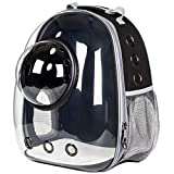 JZCXXJ Astronauta Cápsula Espacial Transpirable Coche Bicicleta Ventana Burbuja Gato Perro Viaje Bolsa de Transporte Mochila Transparente para Mascotas