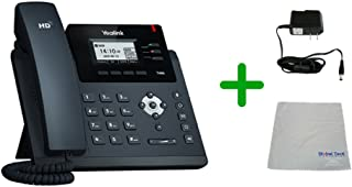 Yealink T40G SIP POE Phone Bundle and Power Supply with Microfiber Cloth | Requires VoIP Service