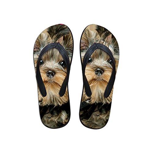 Showudesigns Hausschuhe mit Tierdruck, für Damen, Haus- und Dusche, Sommer-Tanga, Flip-Flops, - hund - Größe: 38/39 EU