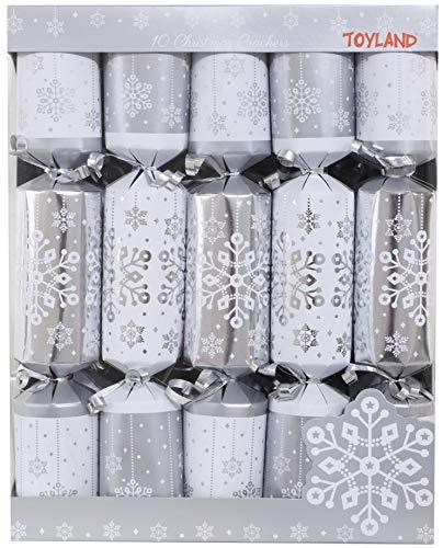 christmasshop 10Deluxe Argento e Bianco Cracker di Natale