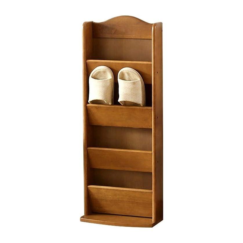 姉妹エミュレーションバリケードシューズラック フレ タワー シューズラック 木製のスリッパラックストレージラックリビングルームバスルーム多機能棚ファッション多層 ZHAOYONGLI (Color : Honey color, Size : 31*15*81.5cm)