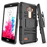 TILL LG G4 Case, [Knight Armor] Heavy Duty Full-Body Rugged Holster Resilient Armor Case [Belt Swivel Clip][Kickstand] Combo Cover Shell for LG G4 (5.5' inch) 2015 Release All Carriers [Black]