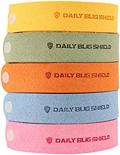 Mumoo Bear Mosquito Repellent Bracelets, Effective All Natural Plant Based Insect Repellent Microfiber Bands, 5 Packs